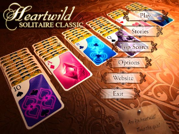 Online game image Heartwild Solitaire Quiz Game